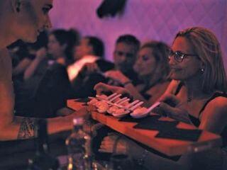 Diner op een club-schip